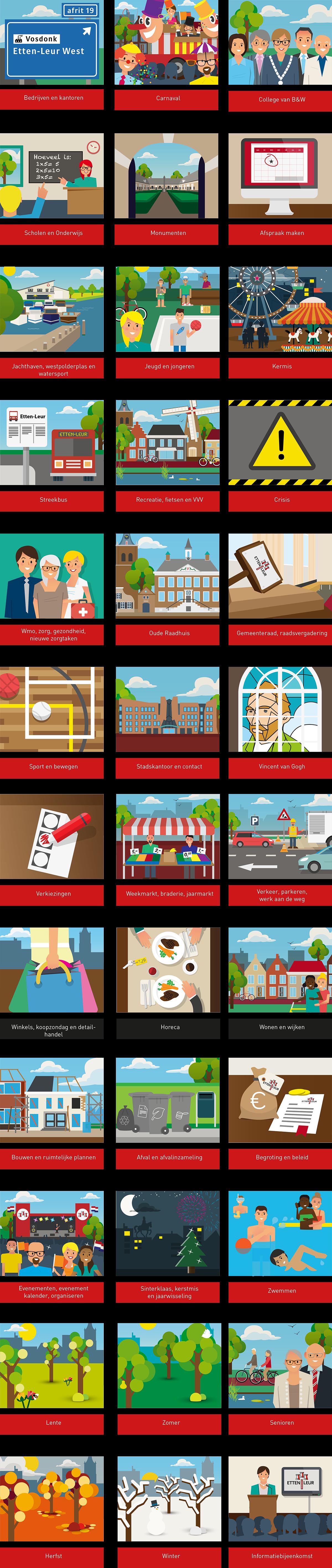 Illustraties website EL Infographic designer